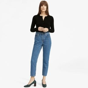 Everlane 90s Cheeky Straight Jean Ankle Med Blue